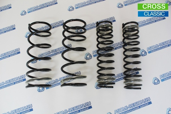 Комплект пружин Mr.Amorti Standart Cross +20мм п/ш для ВАЗ 2108-99, 13-15
